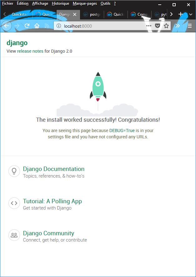 Quickstart: Compose and Django — Tutoriel Docker 2019-02