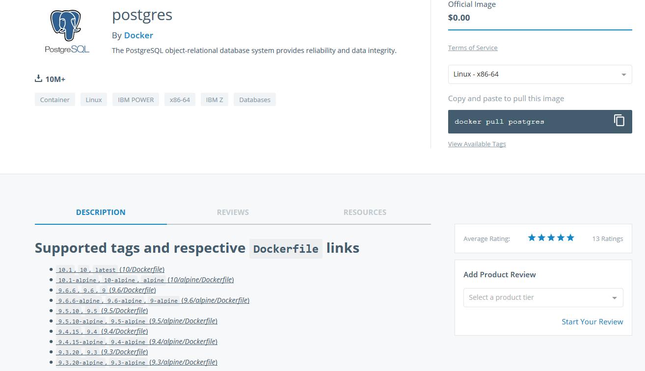 Images PostgreSQL — Tutoriel Docker 2019-02-28T14:31