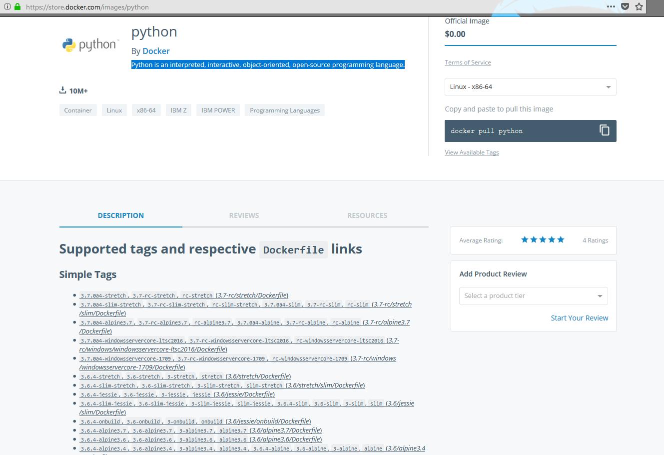 Images Python — Tutoriel Docker 2019-02-28T14:31:01 847184+